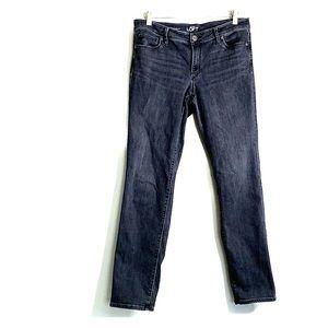 ANN TAYLOR LOFT • Curvy Straight Dark Grey Jeans
